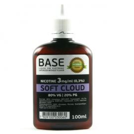 "Основа NicSelect 3мг ""SOFT CLOUD"" 80vg 20 pg"