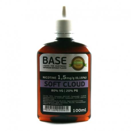 """Основа NicSelect 1.5 мг """"SOFT CLOUD"""" 80vg 20pg"""