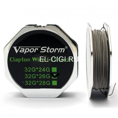 Проволока Vapor Storm Clapton 0,4 мм 26GA / 0,2 мм 32GA / 4,5 м